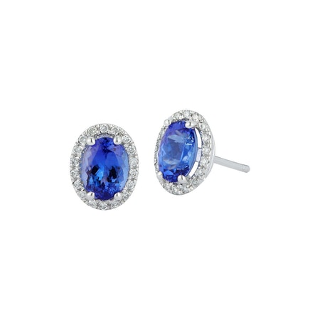 14ct Tanzanite & Diamond Earrings